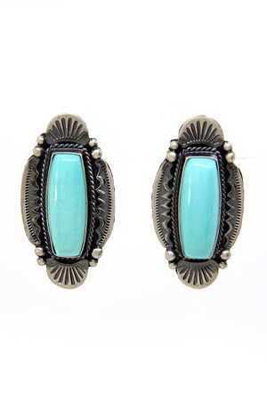 M&R Calladito Navajo Turquoise Post Earrings