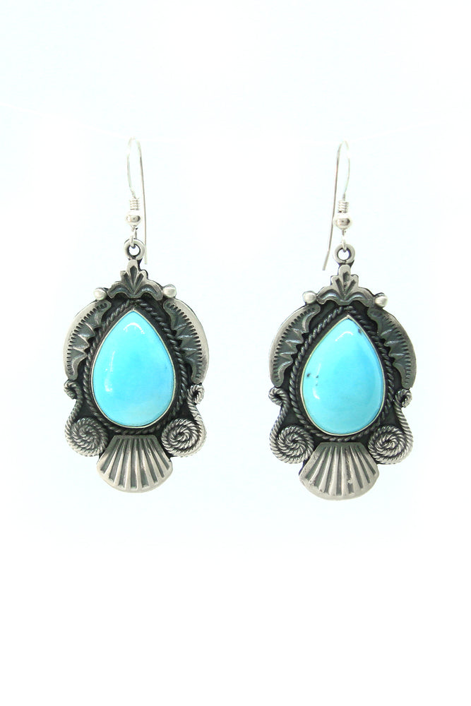 Calladitto Light Blue Turquoise Earrings