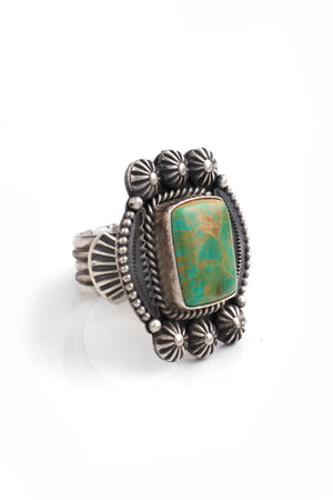 Michael and Rosita Calladitto Vintage Style Turquoise Ring (Size 9.25)
