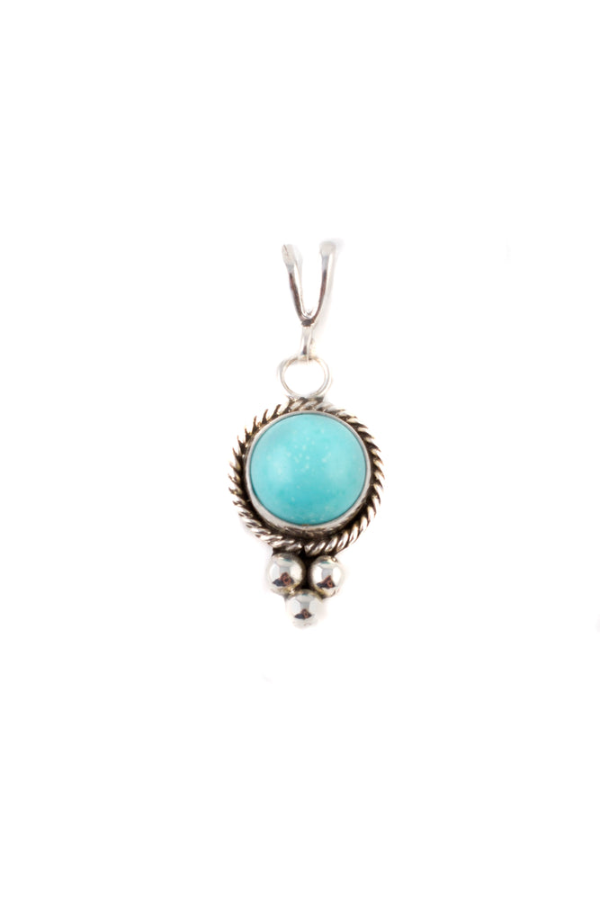 Load image into Gallery viewer, Navajo Petite Turquoise Pendant