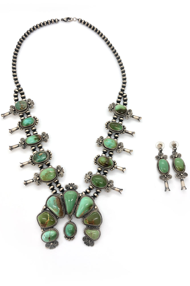 Mary Ann Spencer Royston Turquoise Squash Blossom Necklace (Set)