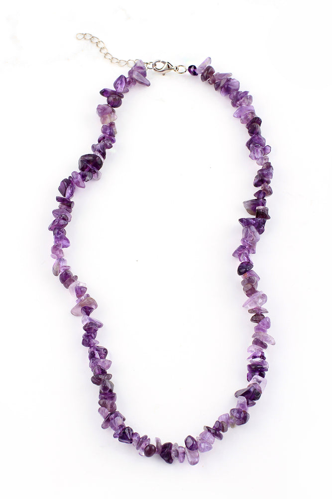 Brazilian Tumbled Amethyst Crystal Necklace