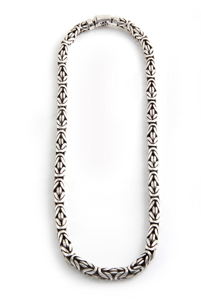 Handcrafted Sterling Silver Byzantine Bali Necklace