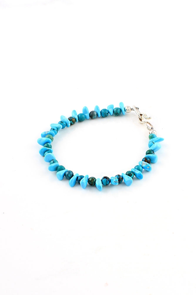 Load image into Gallery viewer, Children's Blue Green Turquoise Nugget Bracelet