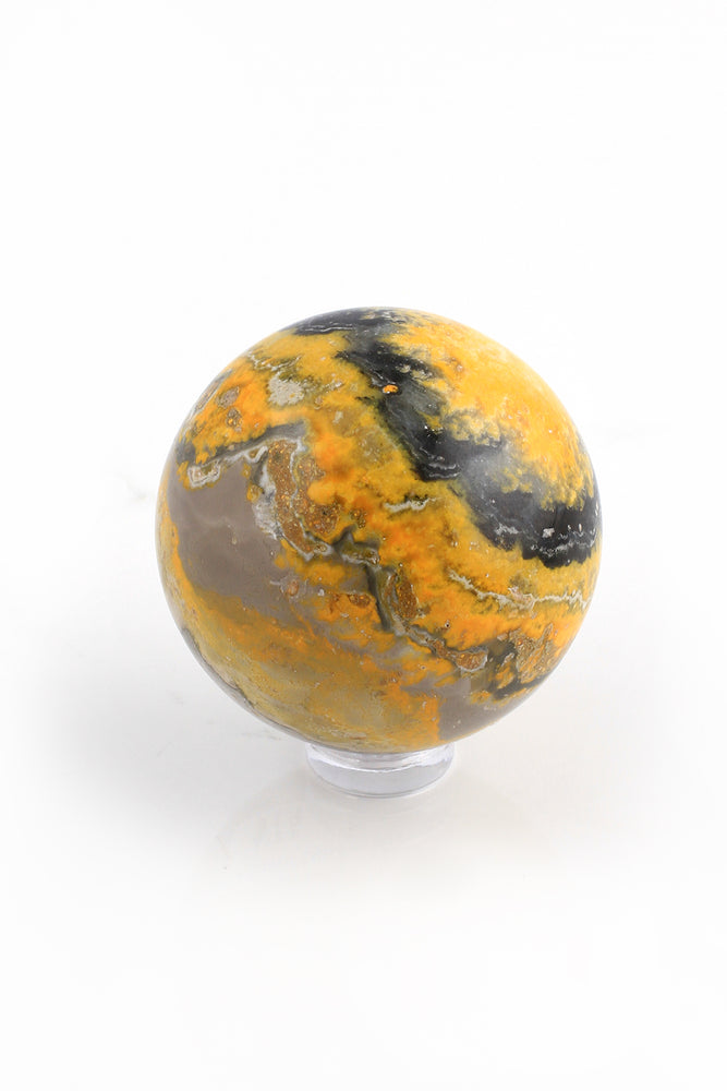 Load image into Gallery viewer, Bumble Bee Jasper Sphere