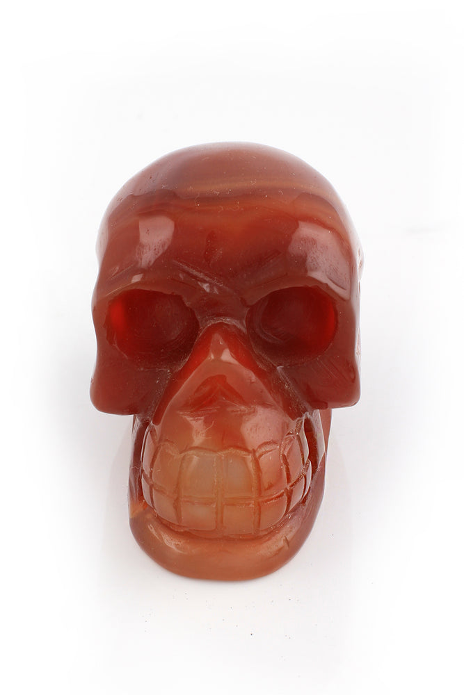 Load image into Gallery viewer, Carnelian Crystal Skull