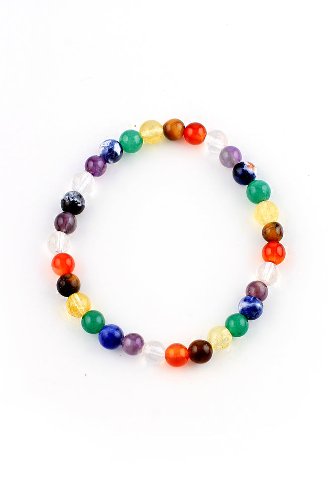 Load image into Gallery viewer, Chakra Round Bead Bracelet