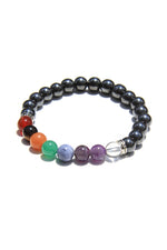 Chakra Stone and Hematite Power Bracelet