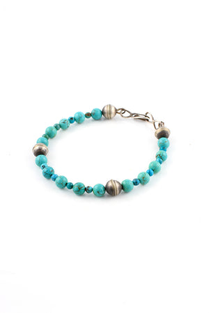 China Mountain Turquoise Bead Bracelet