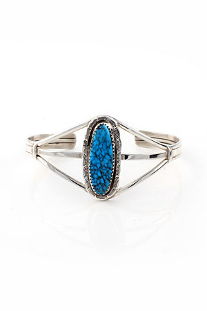 Load image into Gallery viewer, Navajo Ted Secatero Turquoise Cuff Bracelet