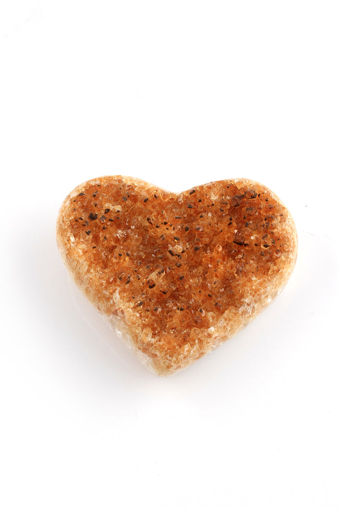 Load image into Gallery viewer, Citrine Geode Heart