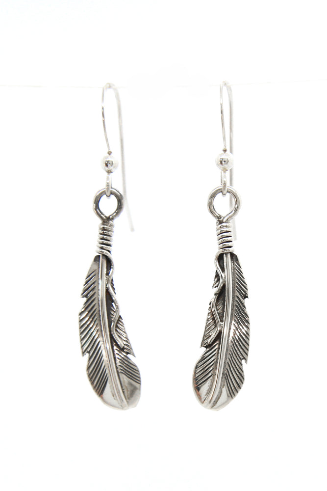 Small Navajo Feather Earrings