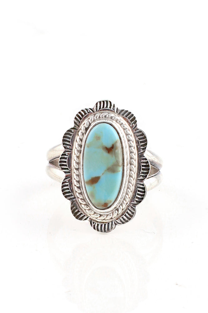 Dry Creek White Turquoise Ring (Size 6)