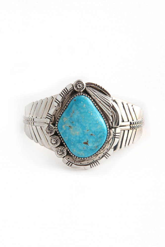 Load image into Gallery viewer, Charleston Draper Blue Gem Turquoise Bracelet