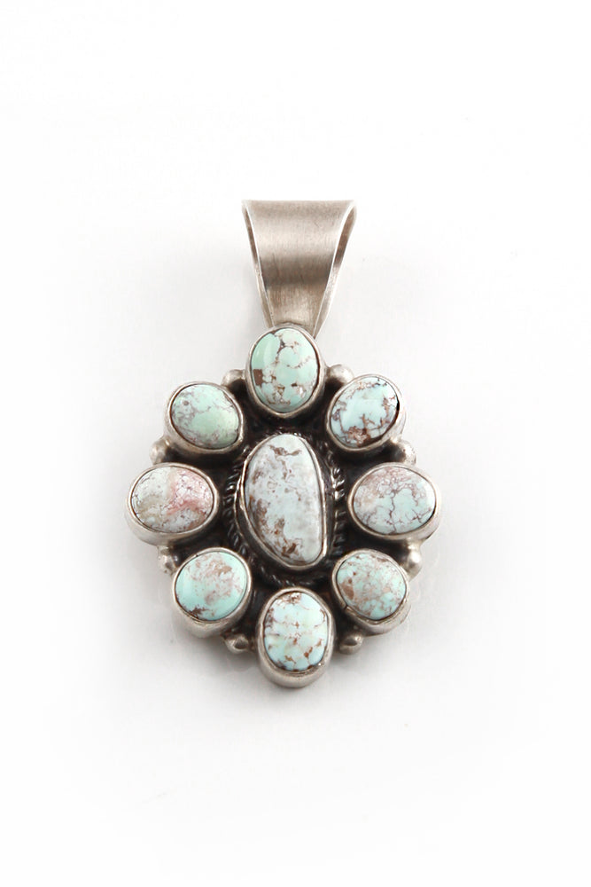 Load image into Gallery viewer, Dry Creek White Turquoise Cluster Pendant