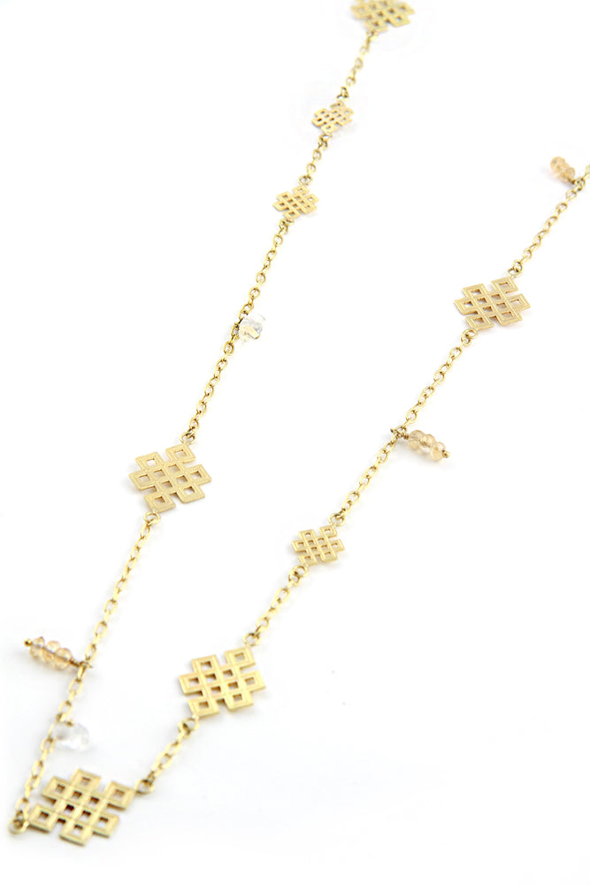 Gold Plated Endless Knot Necklace