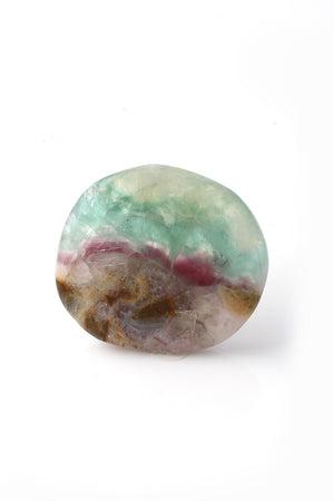 Polished Fluorite Palm Stone