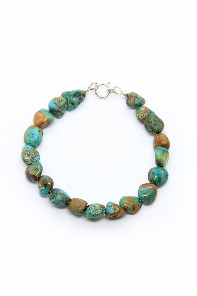 Green Turquoise Nugget Bead Bracelet