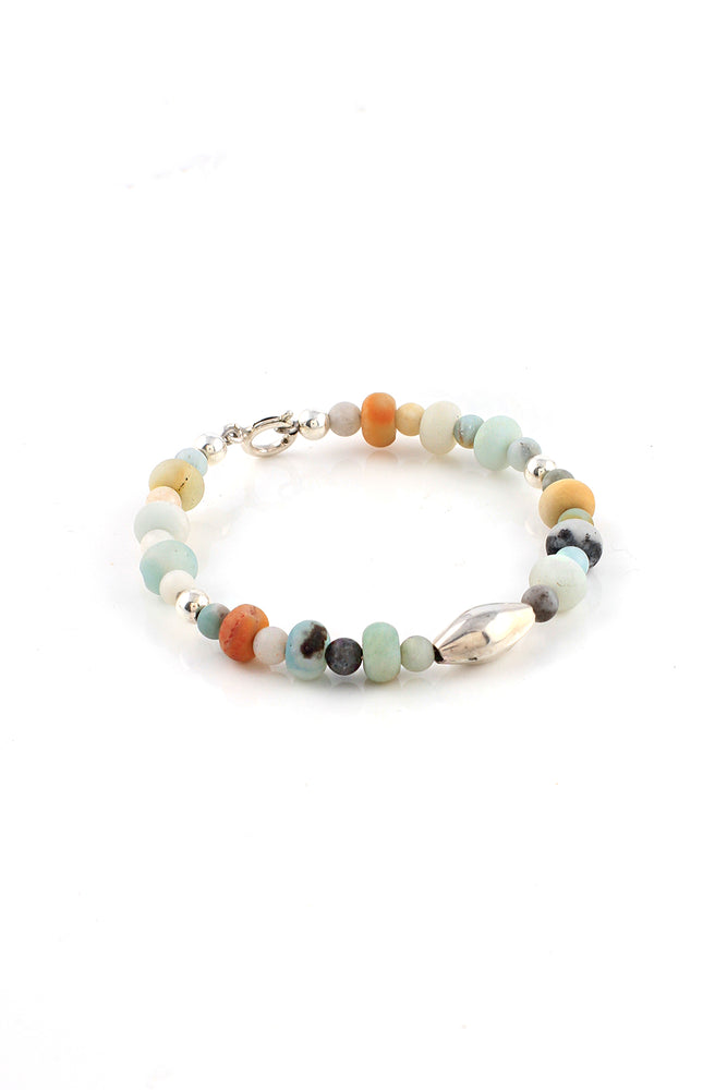 Load image into Gallery viewer, Childrens Amazonite Sterling Silver Bracelet