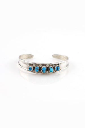 Load image into Gallery viewer, Children's Kingman Turquoise Row Cuff