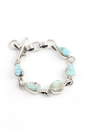 Load image into Gallery viewer, Petite Dry Creek Turquoise Link Bracelet