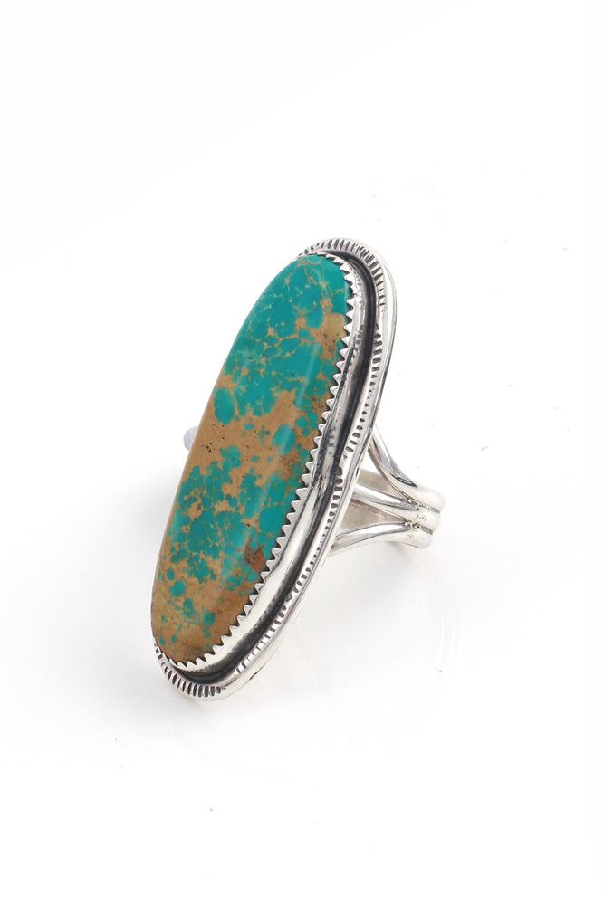 Load image into Gallery viewer, Navajo Turquoise Sterling Silver Ring (Size 9.75)