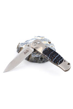 Mammoth Tooth and Titanium Knife
