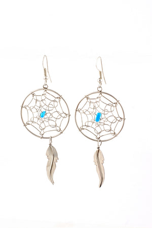 Load image into Gallery viewer, Navajo Handmade Dream Catcher Earrings
