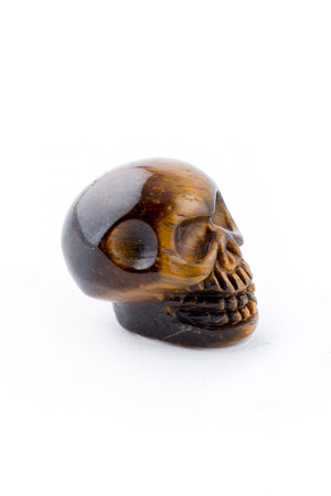 Tiny Tiger's Eye Crystal Skull