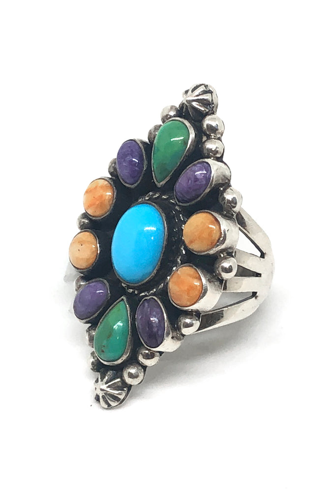 Load image into Gallery viewer, Genado Multi Stone Ring (Size 8 ½)