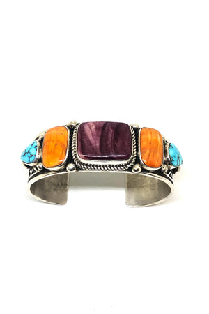 Load image into Gallery viewer, Albert Jake Turquoise and Spiny Oyster Cuff Bracelet