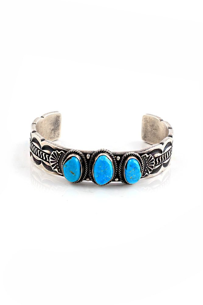 Load image into Gallery viewer, Sheila Tso Turquoise Row Bracelet