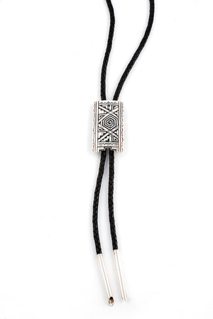 Load image into Gallery viewer, Sterling Silver Overlay Bolo Tie