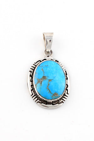 Load image into Gallery viewer, Morenci Turquoise Oval Pendant
