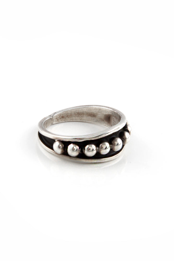 Johnathan Nez Sterling Silver Ring (Size 10.5)