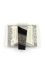 Black Jet and Dinosaur Bone Money Clip