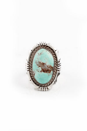 Load image into Gallery viewer, Dry Creek White Turquoise Ring (Size 5.5)