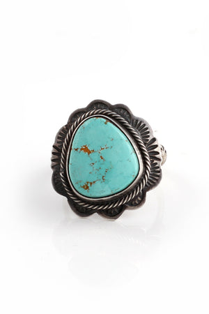 Navajo Light Blue Turquoise Ring (Size 7.5)