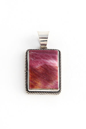 Load image into Gallery viewer, Purple Sunset Spiny Oyster Pendant