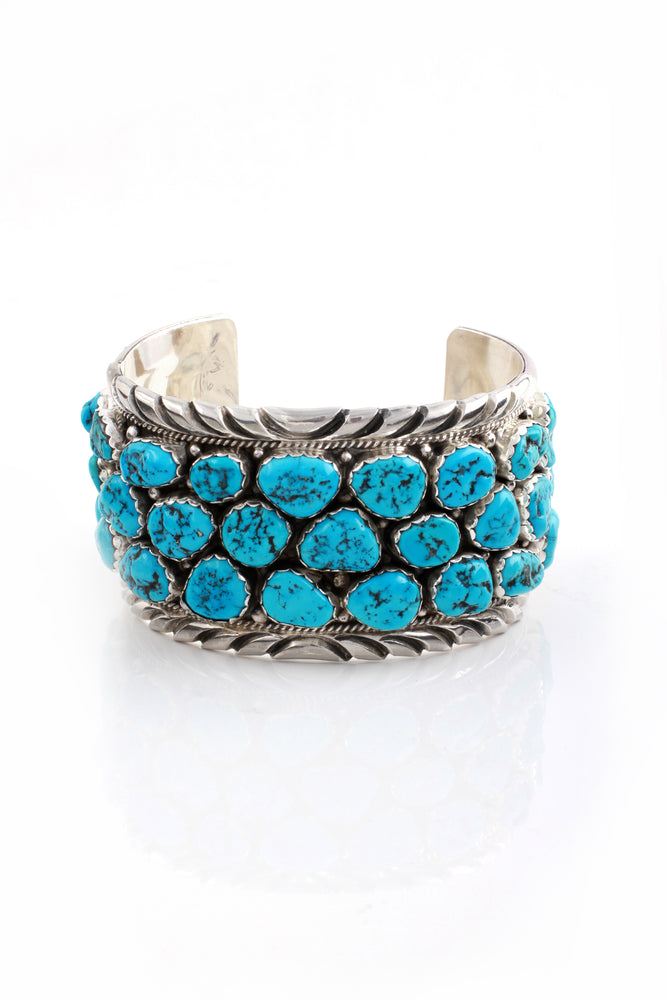 Anthony Skeets Men's Kingman Turquoise Row Cuff