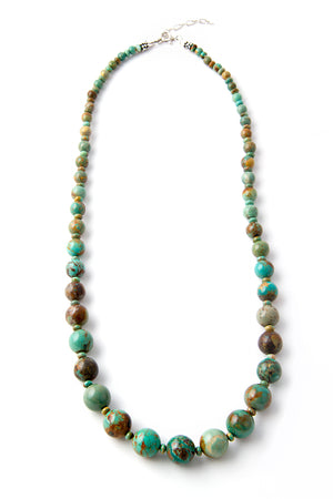 Kingman Turquoise Graduated Necklace