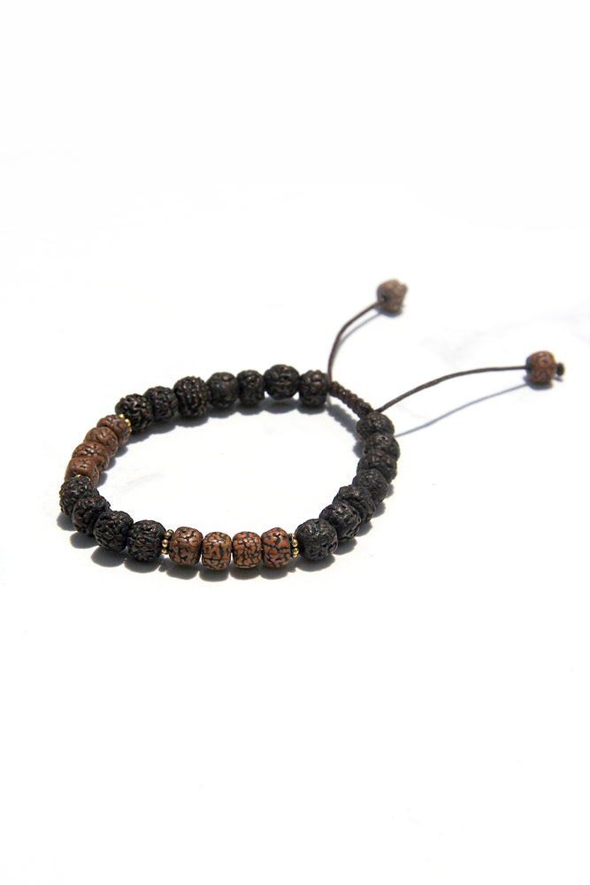 Bodhi Seed and Lava Meditation Bracelet