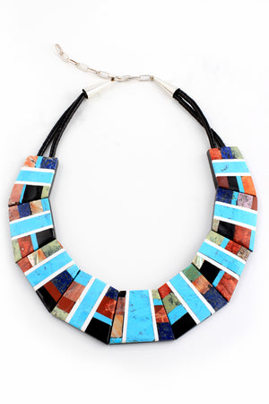 Load image into Gallery viewer, Santo Domingo Geometric Statement Necklace