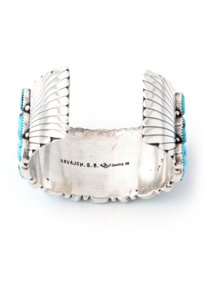 Load image into Gallery viewer, Sleeping Beauty Turquoise Cluster Cuff