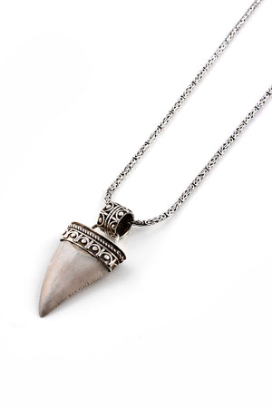 Fossilized Great White Shark Tooth Pendant