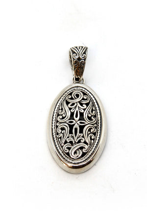 Silver cut out pendant
