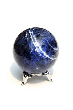 Load image into Gallery viewer, Small Sodalite Sphere 2""