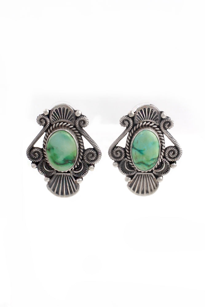M&R Calladitto Sonoran Gold Turquoise Post Earrings