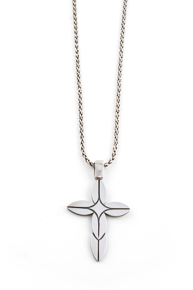 Load image into Gallery viewer, Modern Sterling Silver Cross Pendant