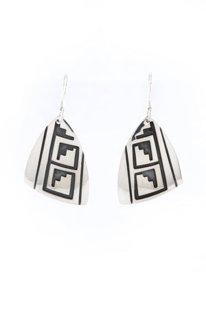 Everett and Mary Teller Silver Overlay Earrings